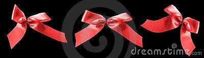 Red ribbon bows for valentines gifts