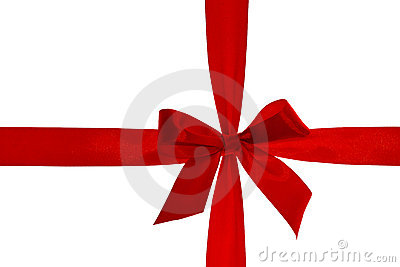 Red ribbon with clipping path.