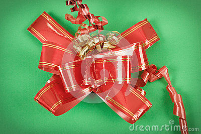 Red ribbon on gift