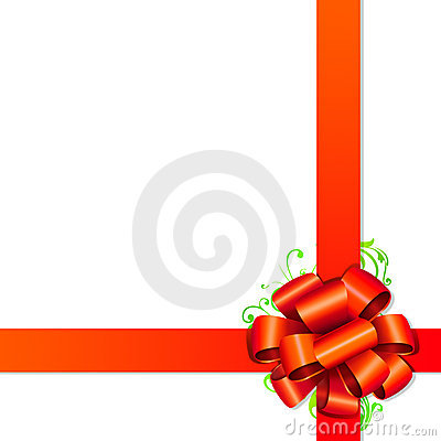 Red ribbon, gift packing