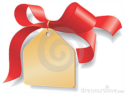 Red ribbon,golden plate. Add your text here.