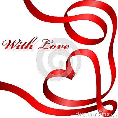 Free Red Ribbon Heart Royalty Free Stock Photos - 12296178