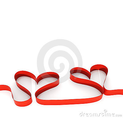 Red Ribbon Hearts