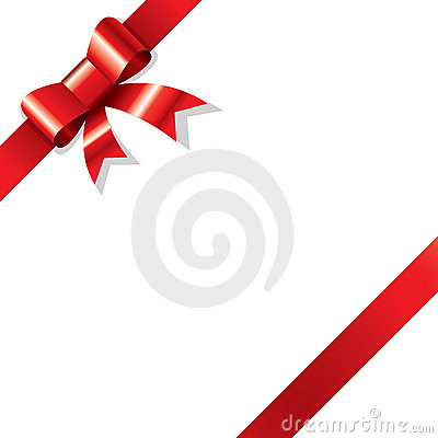 Free Red Ribbon On Corner Royalty Free Stock Image - 3788406