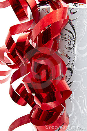 Red Ribbon and Packing Paper