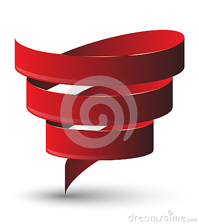 Free Red Ribbon Twist. Royalty Free Stock Images - 44162709