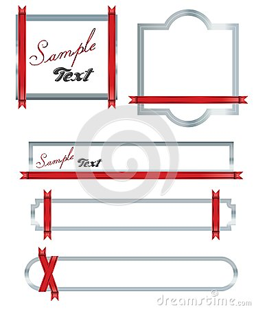 Red ribon Banners