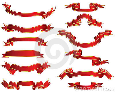 Red ribons set