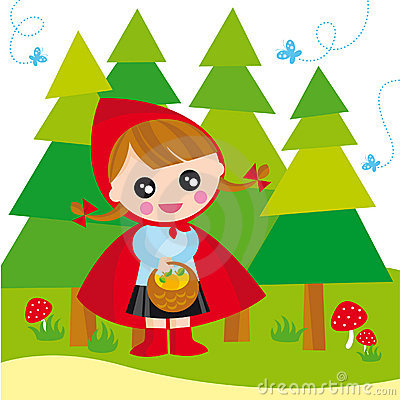 Free Red Riding Hood Royalty Free Stock Photography - 5518837