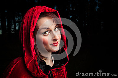 Red riding hood portrait