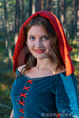 Red Riding  hood standing