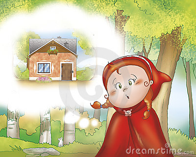 Red Riding Hood in the wood