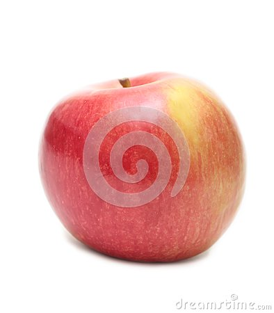 The red ripe apple