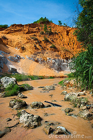 Red river canyon, Mui Ne, Vietnam