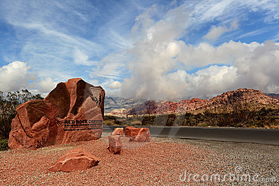 Red rock canyon national conservation area Editorial Image