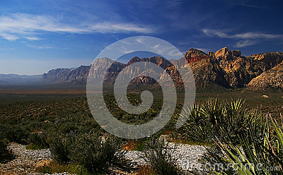Red Rock Canyon, Desert and Mountains in Nevada
