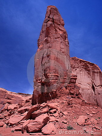 Red rock formation in the Monument Valley