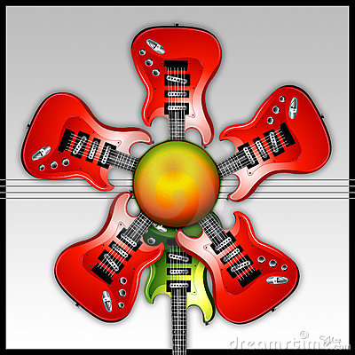 Red Rock Guitar Flower