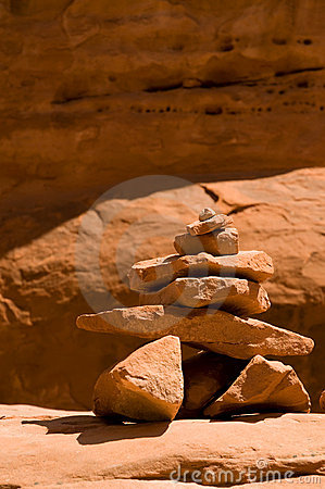 Red rock hoodoo in arches national park