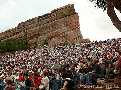 Red Rocks Amphitheatre in Morrison, Colorado Editorial Stock Photo