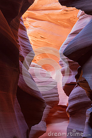 Red Rocks of a Slot Canyon