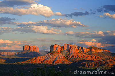 Red Rocks Sunset Royalty Free Stock Images - Image: 3393529