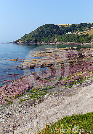 Free Red Rocks Talland Bay Beach Between Looe And Polperro Cornwall England UK Stock Photo - 32990170