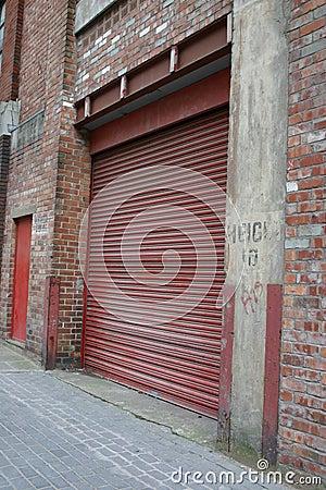 Red Roller Door
