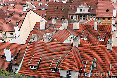 Red roof tiles