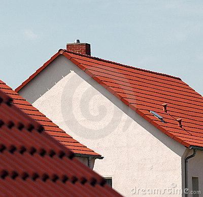 Free Red Roof Tiles On Houses Stock Photos - 12501103