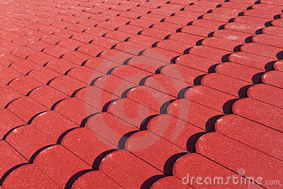 Red roof tiles texture