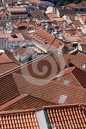 RED ROOFS OF ALFAMA, LISBON