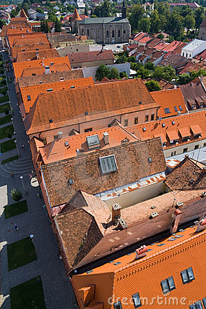 Red roofs in bardejov