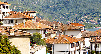 Red roofs - Ohrid town.
