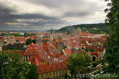 Red roofs of Prague.
