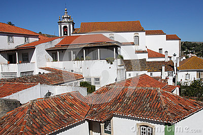 Red rooftops of Obidos