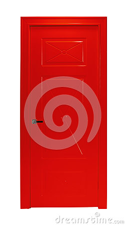 Free Red Room Door Isolated Royalty Free Stock Image - 86358606