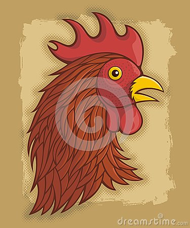 Red rooster s head