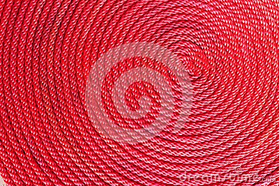 Red rope coil