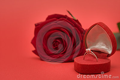 Red Rose and ring