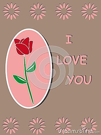 Red rose  template frame design