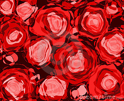 Red Roses Abstract