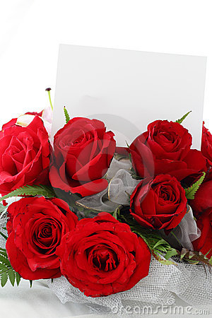 Red Roses with Blank Note