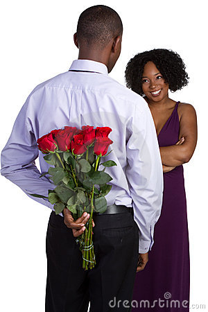 Free Red Roses Couple Stock Photography - 12943102