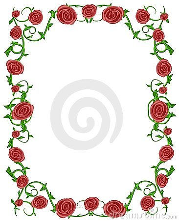 Free Red Roses Floral Photo Frame Stock Photo - 2211150