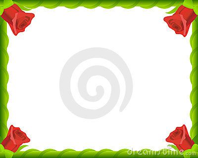 Red roses romantic photo frame