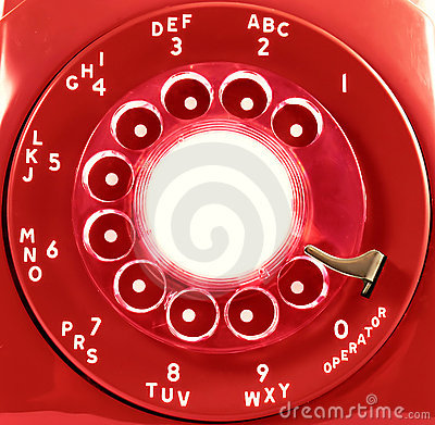 Red Rotary Phone Dial