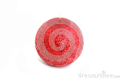 Red round candle