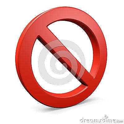 Red round forbidden symbol 2