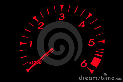 Red RPM Dial